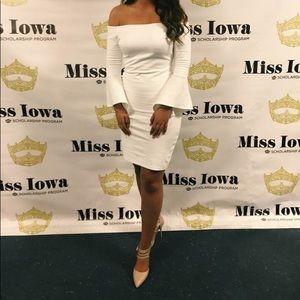 White Off the Shoulder Lulus Dress